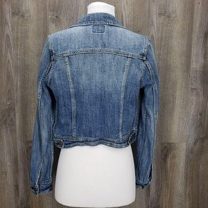 American Eagle Outfitters Jackets & Coats - American Eagle Cropped Jean Jacket Distressed S